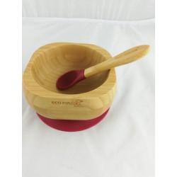 Plato bambú granate eco...