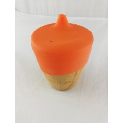 Vaso bambú eco naranja...
