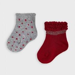 9307 Set 2 calcetines rojo...
