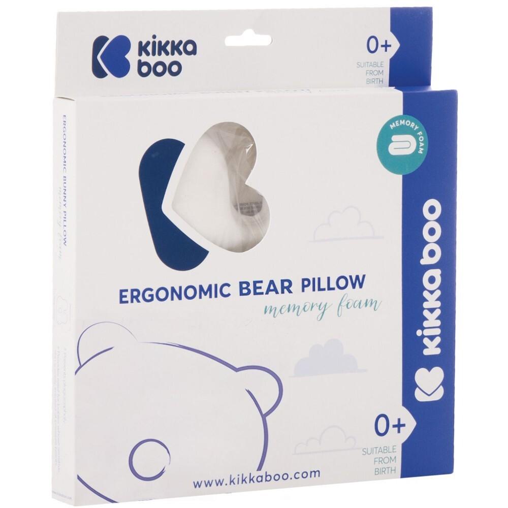 31106010054 - Cojín plagiocefalia Memory Foam Bear terciopelo Beige kikkaboo