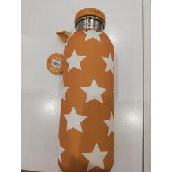 Botella de acero inoxidable de 750ml + funda estrella mostaza Tutete