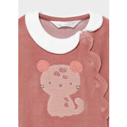 2667 Pijama punto recién nacido niña Mayoral