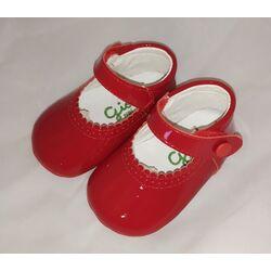 1962 Zapato peuca charol rojo Giovi