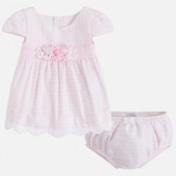Vestido rayas 1804 rosa Mayoral