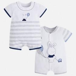 Set 2 pijamas cortos  1720 perla Mayoral