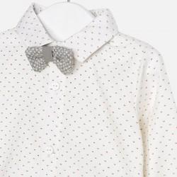Camisa manga larga con pajarita 2104 MAYORAL
